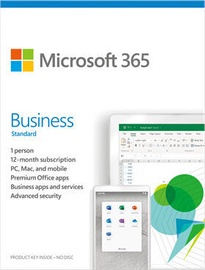 Microsoft Office 365 Business Standard Retail 1-Year Lithuanian License Medialess