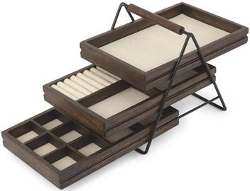 Juvelierizstrādājumu kaste Umbra Terrace Jewelry Tray Black/Wood