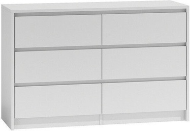 Top E Shop Karo K120 Chest of 6 Drawers White