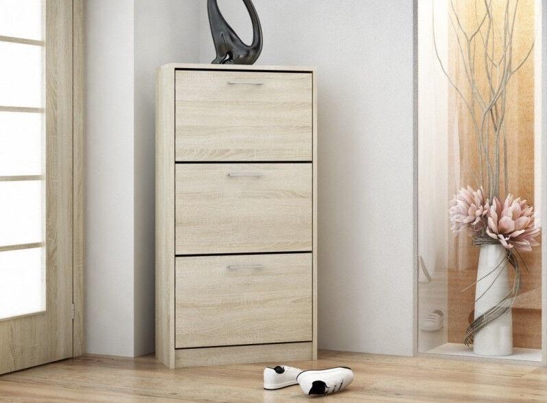 Top E Shop Paula Sonoma Shoe Cabinet