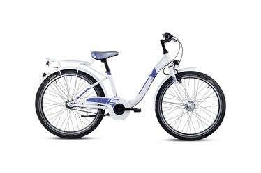 Bērnu velosipēds Scool Chix 24'' White/Purple 20