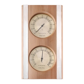 Flammifera AP-042BW Sauna Thermometer with Hygrometer