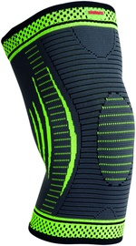Mad Max 3D Compressive Knee Support Dark Grey/Neon Green L