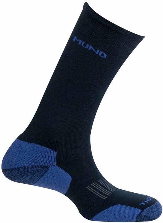 Zeķes Mund Socks Cross Country Skiing Black/Blue, 38-41, 1 gab.