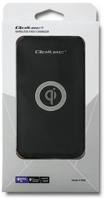 Qoltec Wireless Charger Qualcomm QuickCharge 10W Black