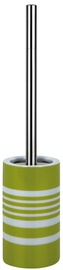 Spirella Toilet Brush Tube Stripes Green