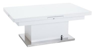 Kafijas galdiņš Signal Meble Megara White, 1250 - 1500x750x510 - 780 mm