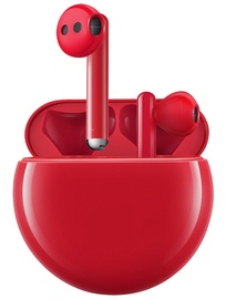 Austiņas Huawei FreeBuds 3 Red, bezvadu