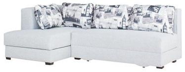 Stūra dīvāns Bodzio Judyta Light Gray/London 2, kreisais, 225 x 155 x 77 cm