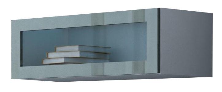 Cama Meble Vigo 90 Cabinet Glass White/Grey Gloss