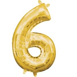 Balons Amscan NR 6, zelta