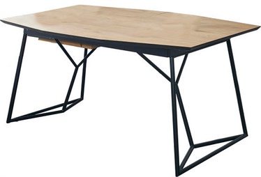 Halmar Extension Table Colombo Golden Oak/Black