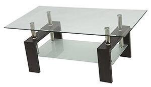 Kafijas galdiņš Verners Mart 557501, caurspīdīga/melna, 1100x600x450 mm
