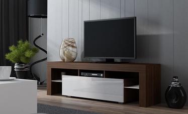 ТВ стол Pro Meble Milano 130 Walnut/White, 1300x350x450 мм