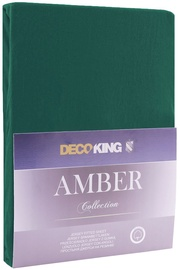 DecoKing Amber Bedsheet 80-90x200 Bottle Green