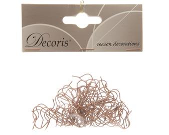Āķi ziemassvētku rotaļlietām Decoris 400001 Copper, 50 gab.
