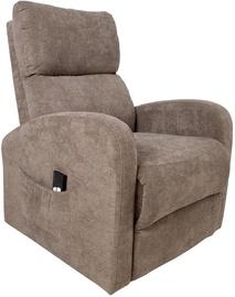 Atzveltnes krēsls Home4you Barny 13846, brūna, 72x93x104 cm