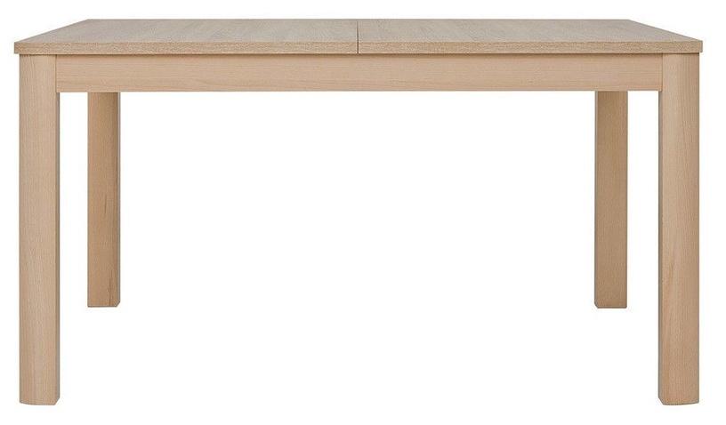 Pusdienu galds Black Red White Oregon Sonoma Oak, 1400x900x770 mm