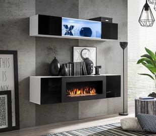 Dzīvojamās istabas mēbeļu komplekts ASM Fly N3 Black/White