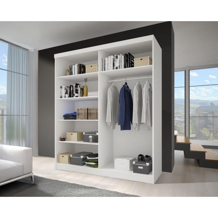 Idzczak Meble Bono BIS 02 Wardrobe w/ Mirror White