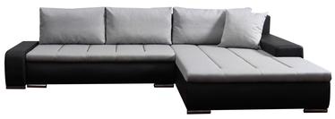 Stūra dīvāns Platan Tivano Gray/Black, 302 x 213 x 80 cm
