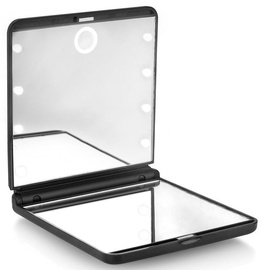 Beter Oooh Light Touch Compact Dual Position Mirror With LED Black