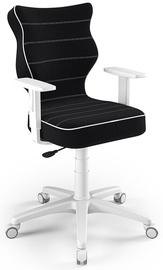 Bērnu krēsls Entelo Duo Size 6 JS01, balta/melna, 400 mm x 1045 mm