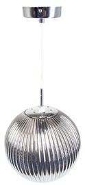 Verners Ribbery Smoked Ceiling Lamp 60W E27 Chrome