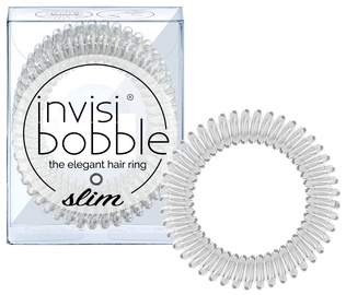 Invisibobble Slim Hair Rings 3pcs Crystal Clear