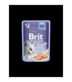 Влажный корм для кошек (консервы) Brit Premium Salmon Fillets In Jelly 85g