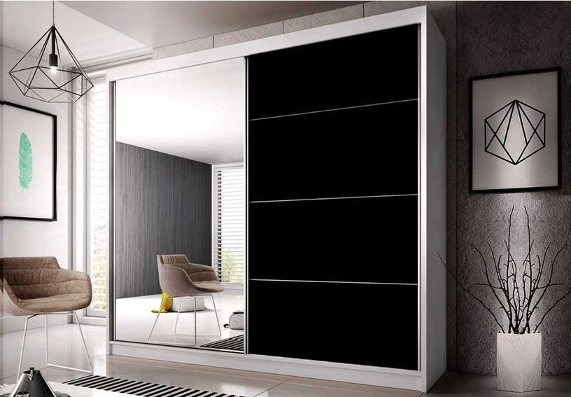 Idzczak Meble Wardrobe Multi 31 233 White/Black