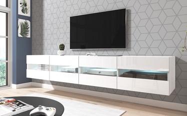 ТВ стол Vivaldi Meble Rita Double White/White Gloss, 2000x420x350 мм