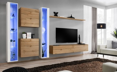 ASM Switch XVI Wall Unit Wotan Oak/White