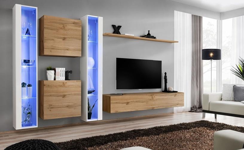 Dzīvojamās istabas mēbeļu komplekts ASM Switch XVI Wotan Oak/White