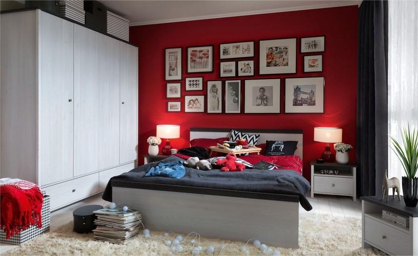 Skapis Black Red White Porto Sibiu Larch/Pine, 188.5x55.5x209 cm