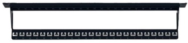 Intellinet Blank 24-Port Panel With Cable Organizer 1U 19'' Black