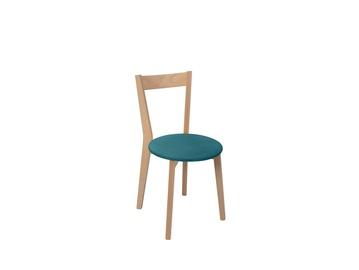 Ēdamistabas krēsls Black Red White Ikka Turquoise/Sonoma Oak