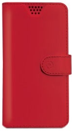 Celly Universal Wally Unica Book Case For 4.0-4.5'' Red