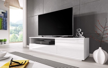 TV galds Cama Meble Muza White, 1380x400x410 mm