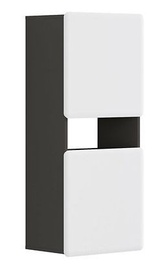Black Red White Possi Light Cupboard 50x115cm Grey/White Gloss