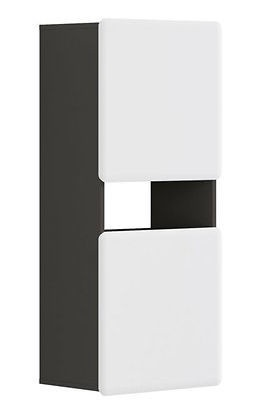 Sienas plaukts Black Red White Possi, pelēka, 50x32x115 cm
