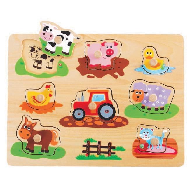 Koka puzle Farm L20064, 10 gab.