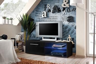 ТВ стол ASM Bono IV, черный, 1200x450x350 мм