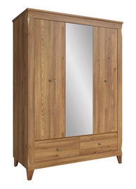 Black Red White Bergen Wardrobe Larch