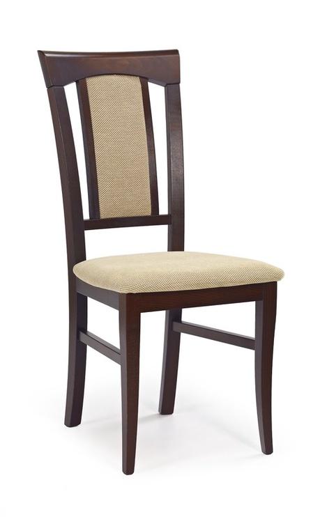 Ēdamistabas krēsls Halmar Konrad, brūna/smilškrāsas