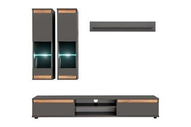 ASM Modo Living Room Wall Unit Set Anthracite/Wotan