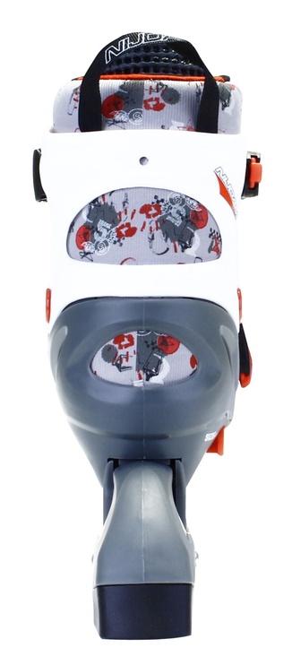 Ролики Nijdam 52QM Junior 3 In 1 Grey/Red/White 30/33