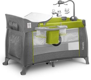 Ceļojuma gultiņa Lionelo Thomi 2in1 Green Lemon