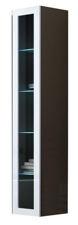 Cama Meble Vigo 180 Glass Case Latte/White Gloss
