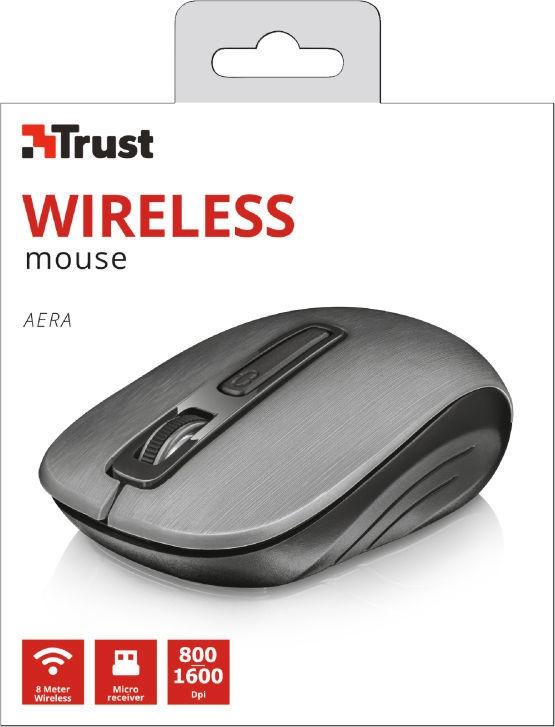 Компьютерная мышь Trust Aera Grey, беспроводная, оптическая